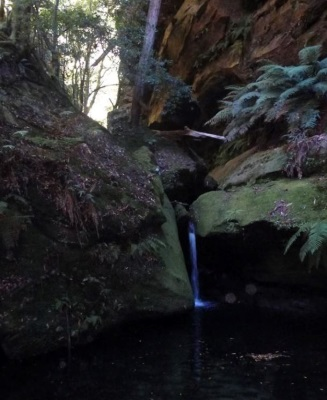 A small waterfall in our side creek, the pool would have been lovely to swim in if it was hot